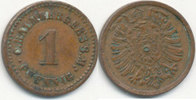 1 Pfennig um 1900 Deutsches Reich,Kaiserre...