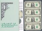 4X1 Dollar 2003 USA Sammlerbanknoten,4er B...