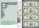4X2 Dollar 2003 USA Sammlerbanknoten,4er B...