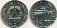 5 Mark, 1989 Deutschland,DDR, J.1536 Brand...