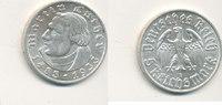 Deutsches Reich,Drittes Reich, 5 Reichsmark J.353 Martin Luther,