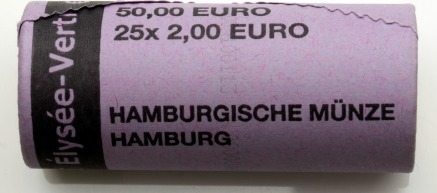 25 X 2 Euro 2013 J Brd Originalrolle 50 Jahre Elysee Vertrag Unc