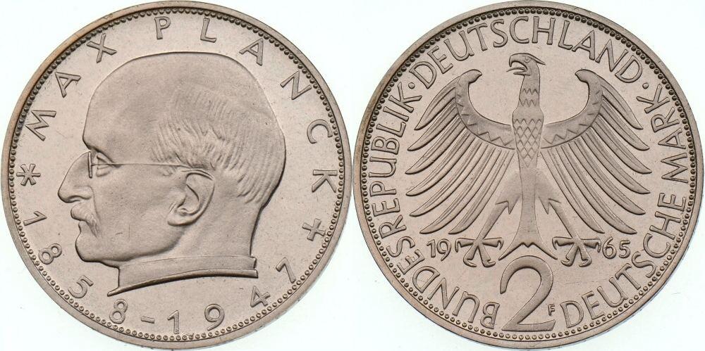 2 Dm 1965 F Brd Max Planck Proof Ma Shops