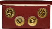 4 x 1 Yuan 1980 China Olympische Winterspi...