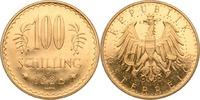 100 Schilling 1928 Österreich  vz-st, Haar...