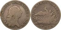 1 Taler 1771 Preussen Friedrich II. s-ss