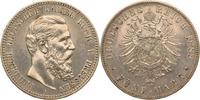 5 Mark 1888 Preussen Friedrich III. vz, be...