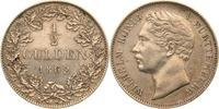 1/2 Gulden 1862 Württemberg Wilhelm I. fas...