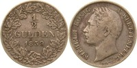 1/2 Gulden 1839 Württemberg Wilhelm I. ss