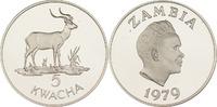 5 Kwacha 1979 Sambia Litschi-Moorantilope PP