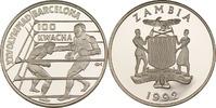 100 Kwacha 1992 Sambia Zwei Boxkämpfer PP