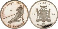 20 Kwacha 1994 Sambia Slalomläufer PP