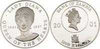 1000 Kwacha 2001 Sambia Lady Diana PP