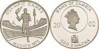 500 Kwacha 2002 Sambia Fackelläufer PP