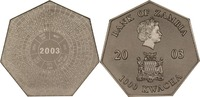 1000 Kwacha 2003 Sambia Jahreskalender st