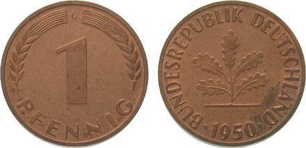 1 pfennig 1950 цена дунай ипой
