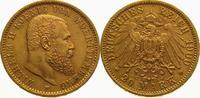 20 Mark Gold 1900  F Württemberg Wilhelm II. 1891-1918. Vorzüglich - St... 475,00 EUR  +  5,00 EUR shipping
