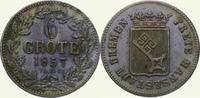 6 Grote 1857 Bremen, Stadt  Schöne Patina....