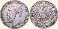 5 Mark 1895  G Baden Friedrich I. 1856-190...