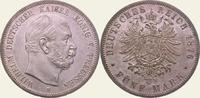 5 Mark 1876  B Preußen Wilhelm I. 1861-1888. Vorzüglich - Stempelglanz  550,00 EUR  +  5,00 EUR shipping