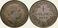 1/2 Gulden 1856 Baden-Durlach Friedrich I....