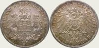 5 Mark 1908  J Hamburg  Feine Tönung. Fast Stempelglanz  392.62 US$  +  11.22 US$ shipping