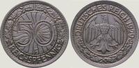 50 Pfennig 1929  F Weimarer Republik  Vorzüglich - Stempelglanz  75,00 EUR  +  5,00 EUR shipping