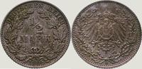 1/2 Mark 1908  E Kleinmünzen  Vorzüglich - Stempelglanz  25,00 EUR  +  5,00 EUR shipping