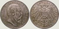 2 Mark 1891  A Hessen Ludwig IV. 1877-1892. Vorzüglich +  1250,00 EUR  +  5,00 EUR shipping