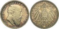 2 Mark 1907 Baden Friedrich I. 1856-1907. Feine Tönung. Fast Stempelgla... 100,00 EUR  plus 5,00 EUR verzending