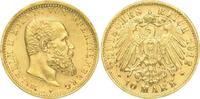 10 Mark Gold 1912  F Württemberg Wilhelm II. 1891-1918. Winz. Kratzer, ... 500,00 EUR  plus 5,00 EUR verzending