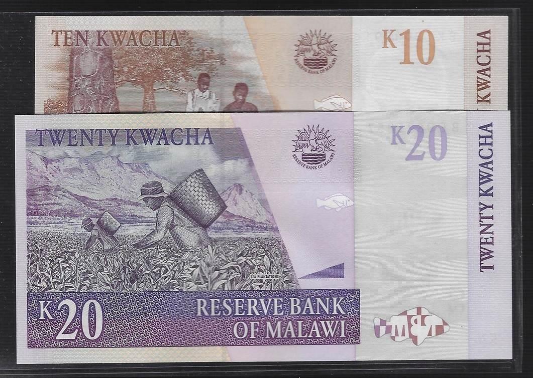 Malawi P-51a 10 Kwacha Year 2004 Uncirculated Banknote Africa