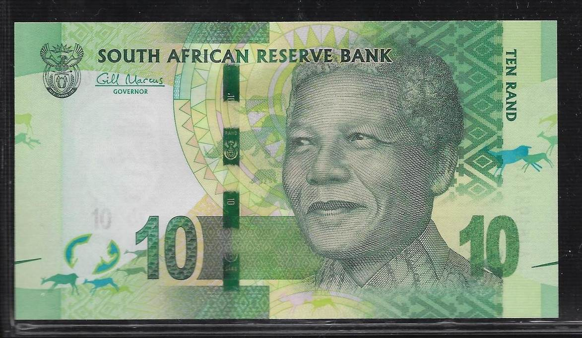 UNC 2012 P.133a ND SOUTH AFRICA BANKNOTE 10 RAND