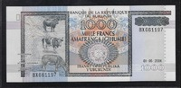 1000 FRANCS 01.05.2006 BURUNDI Série BX Qu...