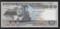 5000 Escudos 7.1.1986 PORTUGAL  Série ATK ...