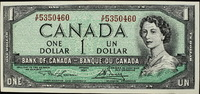1 CAN Dollar 1954 Canada Queen Elisabeth I...