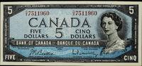 5 Dollar 1954 Canada Queen Victoria II Sup...