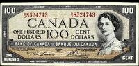 100 Dollar 1954 Canada Queen Victoria II S...