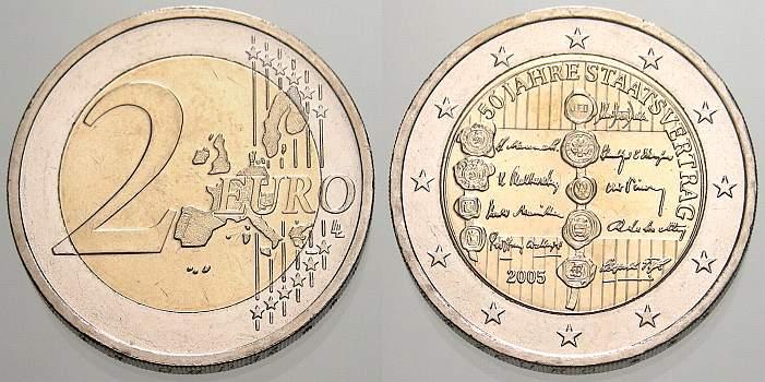 2 Euro 50 Jahre Staatsvertrag 2005 österreich Fdc Ma Shops