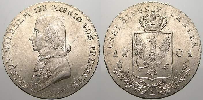 13 Taler 1801 A Brandenburg Preußen Friedrich Wilhelm Iii 1797