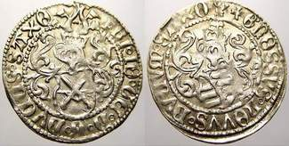 Zinsgroschen 1507-1525 Sachsen-Kurfürstentum Friedrich III., Johann und Georg 1507-1525. Selten in dieser Erhaltung. Vorzüglich+