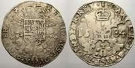 1/2 Patagon 1684 Belgien-Brabant Karl II. ...