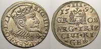 3 Gröscher 1 1597 Riga, Stadt Sigismund II...