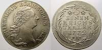 1/3 Taler 1772  A Brandenburg-Preußen Frie...