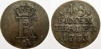 1/48 Taler 1771  A Brandenburg-Preußen Fri...
