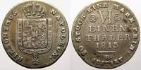 1/6 Taler 1813 Westfalen, Königreich Hiero...