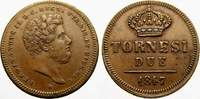 2 Tornesi 1847 Italien-Neapel und Sizilien...
