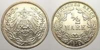 1/2 Mark 1912  A Kleinmünzen  Feinste stem...