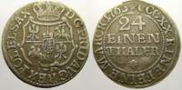 1/24 Taler (Groschen) 1763  FW Sachsen-Alb...