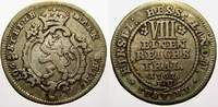 1/8 Taler 1767  FU Hessen-Kassel Friedrich...